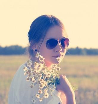 Flower Sunset Pose