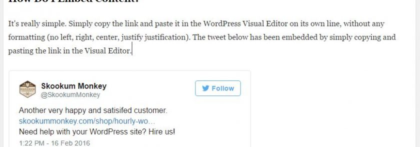 The Awesome Simplicity of oEmbed and WordPress: Embedding Content Made Easy