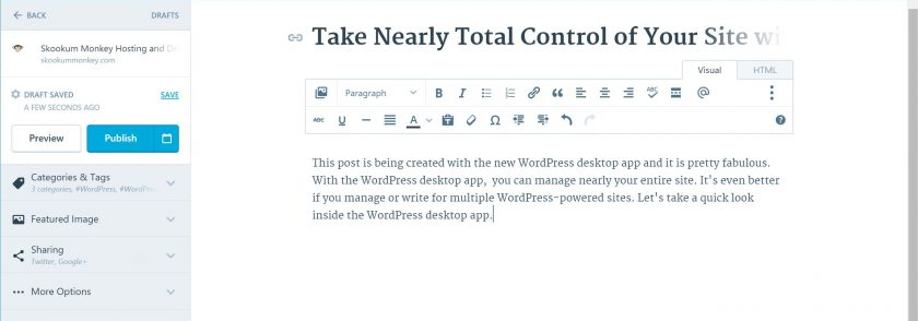 Take Nearly Total Control of Your Site with the WordPress Desktop App