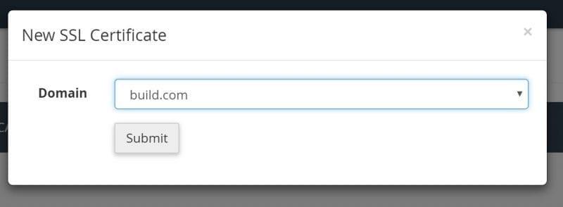 Let's Encrypt SSL Cetificate Choose Domain