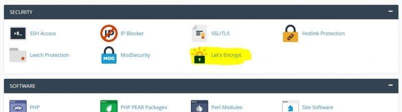 Let's Encrypt SSL Cetificate cPanel