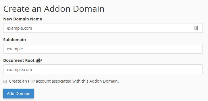 how to add domain to hosting